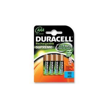 Batterie ricaricabili NI-MH AAA Duracell Supreme