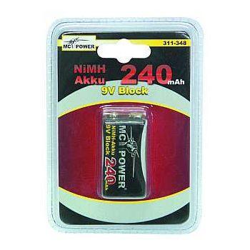 Batteria NI-MH Transistor 9V 250 mA/h