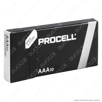 Batterie alcaline AAA Duracell Procell Conf 10 pz